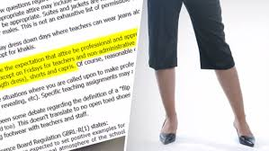 capri pants are inappropriate work attire for teachers says