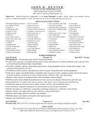 18 Entry Level Mechanic Resume Example 2015
