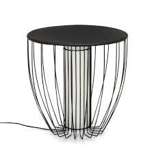 alinea bout de canape bout de canapé lumineux en acier noir nouveautés promos