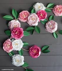 DIY Paper Camellia Flowers By Lia Griffith