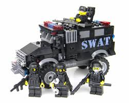 DELUXE SWAT Truck Police Vehicle Made With Real LEGO ® Brick