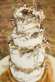 Gorgeous And Elegant Rustic Wedding Cake By Amy Swann Cakes