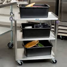 Stainless Steel Utility Sink With Legs by Lakeside 311a Standard Duty Stainless Steel 3 Shelf Utility Cart