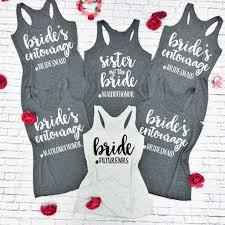 6 bridesmaid tank tops custom bridesmaids shirts