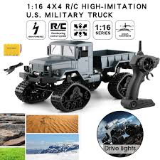 100 16 Truck Wheels RC Military Army 1 4WD Tracked OffRoad Remote