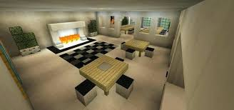 Minecraft Dining Table Breakfast Nook Room Hall Fireplace Modern Designs Pe How To