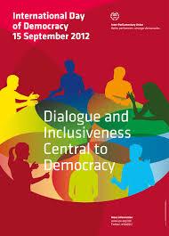 IPU International Day Of Democracy Pitch Black Graphic