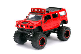 JUST TRUCKS DIE CAST 1:64 SCALE 2003 HUMMER IN RED BY JADA TOYS ...