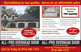 All Pro Overhead Door 4840 Cypress Ave Carmichael CA YP