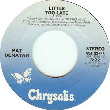 pat benatar late 45cat pat benatar late fight it out chrysalis