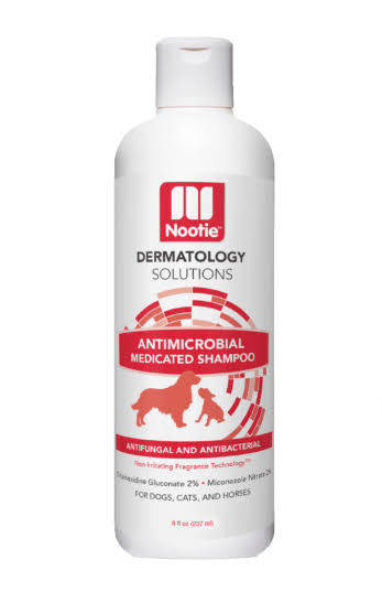 Nootie Medicated Antimicrobial Shampoo & Wipes 8 oz Shampoo