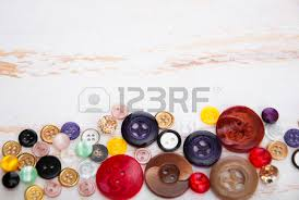 Sewing Supplies Wood Background Stock Picture And