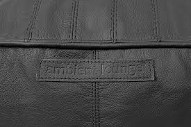 Black Leather Bean Bags