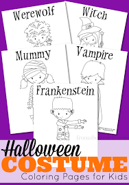 Find A Little Costume Inspiration With These Adorable Halloween Coloring Pages For Kids