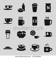 Coffee Icons Set Of 16 Filled Such As Mug Vending Machine