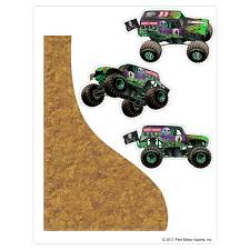 100 Monster Truck Jump Grave Digger Decal Pack Jam Stickers Decalcomania
