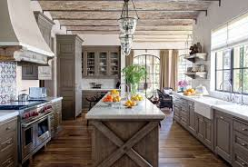 Kitchen Island Best Rustic Decor With Brown Wood Combine White Stone Countertop Plus Textured Floor Classic Lighting Dining Table