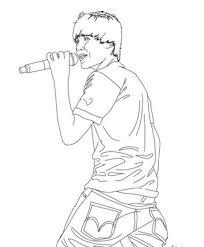 Justin Bieber Singing Coloring Page Printable