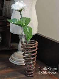 This Rustic Industrial Bud Vase Is Made From An Old Spring A Salvaged Metal Scrapyard