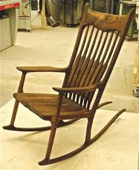 Sam Maloof Rocking Chair Plans by Rick Helms Woodworking Maloof Style Rocker