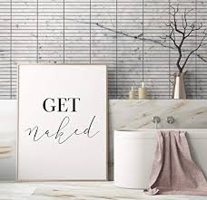 get bedruckbare kunst badezimmer dekor typografie
