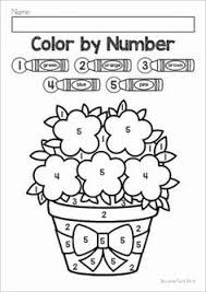 Spring Color By Number Packet Includes Numbers 1 5 10 And 11 20