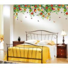 Walltola Multicolor Floral Wall Stickers Bed Room Backdrop Other Hanging Realistic Daisy Flowers Falling From Ceiling