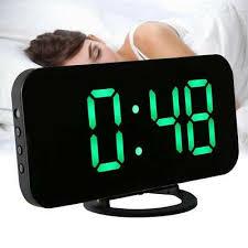led digital wecker tischuhr uhr beleuchtet nacht thermometer