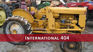 International Harvester 404 Tractor Parts - YouTube