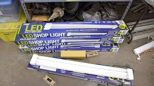 LED shop light upgrade for general workspace paint and inspection