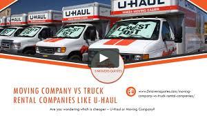 100 Moving Truck Rental Company VS Companies Like Uhaul On Vimeo