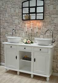 details zu doppel waschtisch landhausstil mit keramik waschbecken badezimmermöbel landhaus