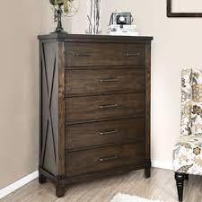 Furniture Of America Hilande Rustic Dark Walnut 5 Drawer Chest