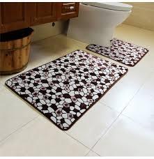 2pcs steinmuster wc boden teppichboden nicht beleg badezimmer closes mat teppich sets