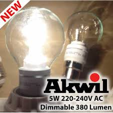 new akwil dimmable 5w 380lm sharp led true fit frosted or clear