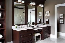 bathroom lovely white double bathroom vanity with makeup area