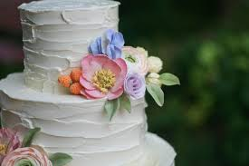 Rustic Buttercream And Sugar Flowers By Erica Obrien Cake Design