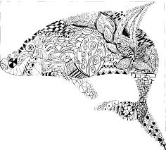 Pattern Colouring Pages Animals