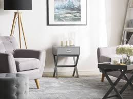 beistelltisch grau quadratisch 40 x 40 cm beliani ch