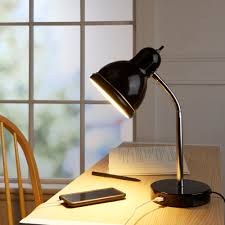 Mainstays Floor Lamp With Reading Light Assembly by Mainstays Usb Desk Lamp Black Finish With Chrome Gooseneck