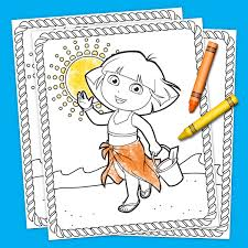 Sunny Day Coloring Pages Blair Cartoon Book Online Of A