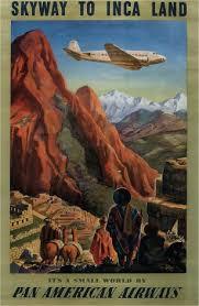 Vintage Travel Poster Pan American Airways PAA