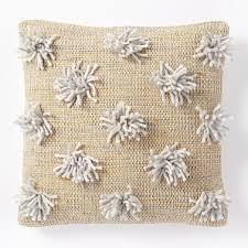 Pom Pom Pillow Cover Golden Oak
