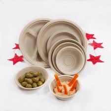 Natural Wheat Fibre Plates And Bowls