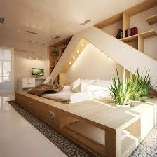 House Plants And Wood For Modern Bedroom Design In Eco Style