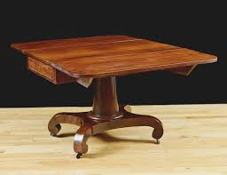 American Empire Greek Revival Drop Leaf Dining Table In Mahogany C1830