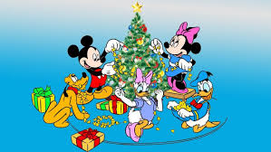 Mickey And Minnie Mouse Donald Duck Pluto Decorating The Christmas Tree Desktop HD Wallpaper Free Download 1920x1200