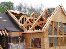100 House Trusses Timber Truss Installation Dads Stuff NHP Timber Frame Homes