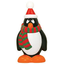 Lowes Canada Outdoor Christmas Decorations by Shop Holiday Time Pre Lit Penguin Sculpture With Constant Clear