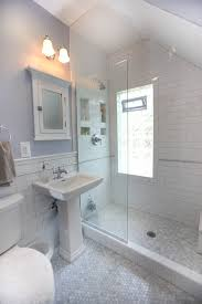 subway tile bathrooms bathroom traditional with open shower glass